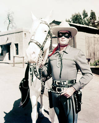 Moore Photograph - Clayton Moore In The Lone Ranger  by Silver Screen