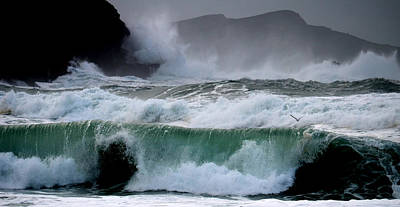 Clogher Waves Art Print