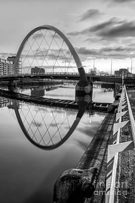 Clyde Arc Squinty Bridge Art Print by John Farnan