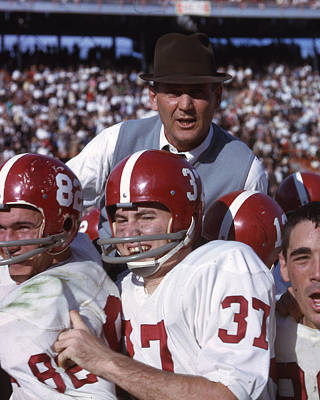 Tuscaloosa Photograph - Coach Bear Bryant by Retro Images Archive
