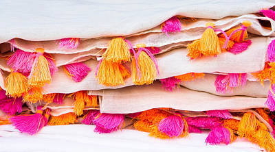 Clothes Clothing Photograph - Colorful Textile by Tom Gowanlock