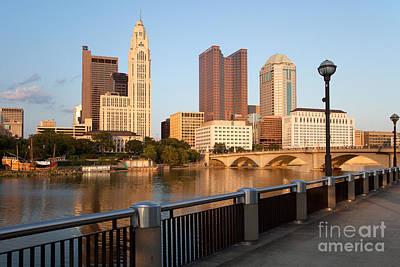 Columbus Ohio Skyline Art Print by Bill Cobb
