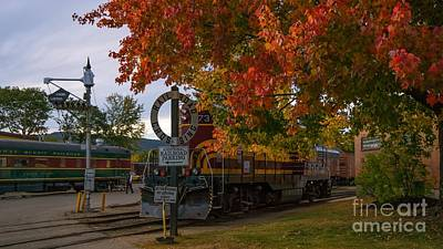 Photograph - Conway Scenic Railroad.  by New England Photography
