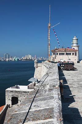 Casablanca Wall Art - Photograph - Cuba, Havana, Castillo De Los Tres by Walter Bibikow