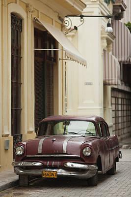 Cuba, Havana, Havana Vieja, Morning Print by Walter Bibikow