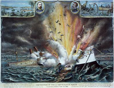 Caribbean Sea Painting - Cuba U by Granger