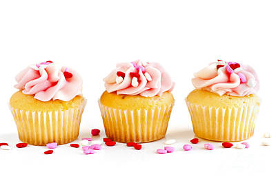 Muffin Photograph - Cupcakes by Elena Elisseeva
