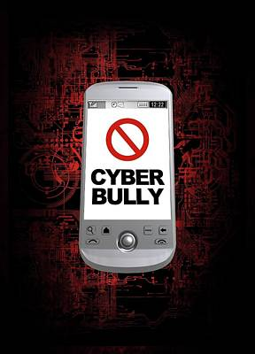 Cyber Bullying Art Print by Victor Habbick Visions/science Photo Library