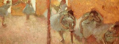 Stretch Painting - Dancers by Edgar Degas