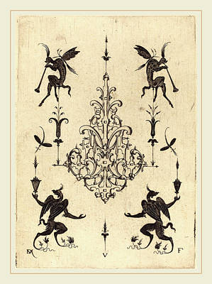 Griffin Drawing - Daniel Mignot German, Active 1593-1596 by Litz Collection