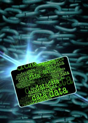 Data Security Art Print by Victor Habbick Visions