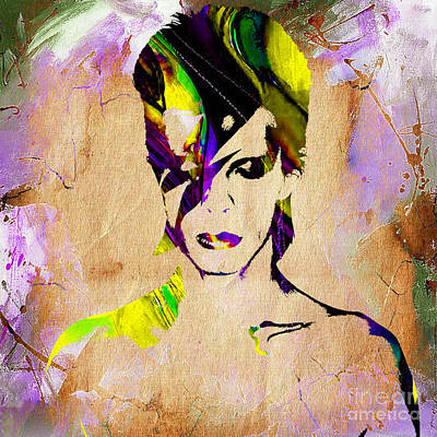 Musicians Mixed Media - David Bowie Collection by Marvin Blaine