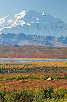 Model Released Photograph - Denali National Park, Alaska, Mt by Hugh Rose