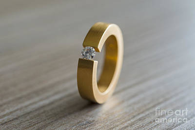 Solitaire Ring Photograph - Diamond Ring by Mats Silvan