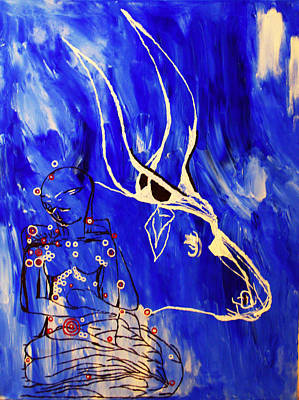 Africa Dinka Painting - Dinka Livelihood - South Sudan by Gloria Ssali