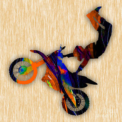 Cycles Mixed Media - Dirt Bike Art by Marvin Blaine