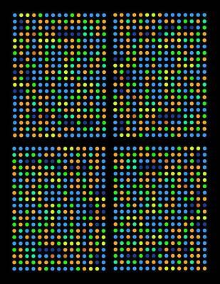 Dna Microarray Art Print by Pasieka