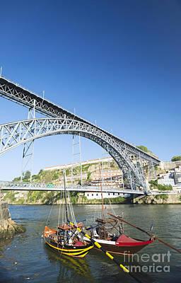 Impressionist Landscapes - Dom Luis Bridge Porto Portugal by JM Travel Photography
