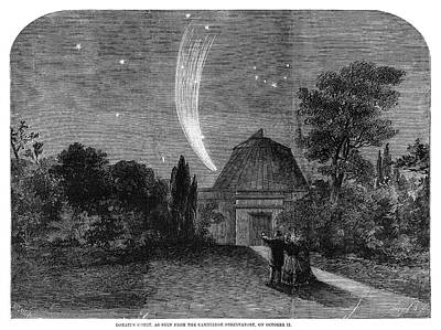 Cambridge University Painting - Donati's Comet, 1858 by Granger