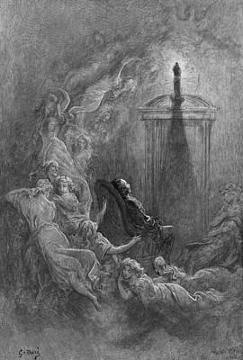 Edgar Allan Poe Drawing - Dor� The Raven, 1882 by Granger