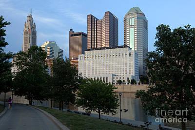 Downtown Skyline Of Columbus Ohio Art Print by Bill Cobb