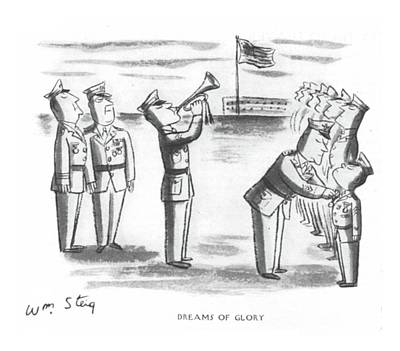 Military Hero Drawing - Dreams Of Glory by William Steig