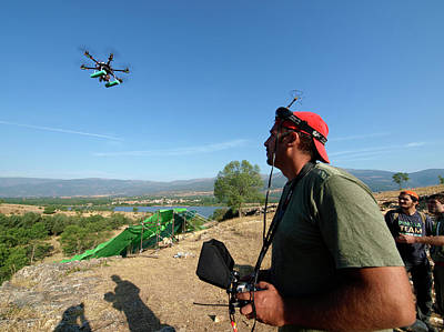 Fossil Man Photograph - Drone Survey Of Neanderthal Fossil Site by Javier Trueba/msf