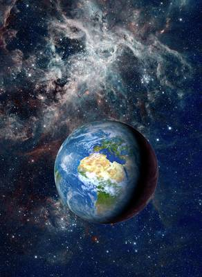 Earth From Space Art Print by Detlev Van Ravenswaay
