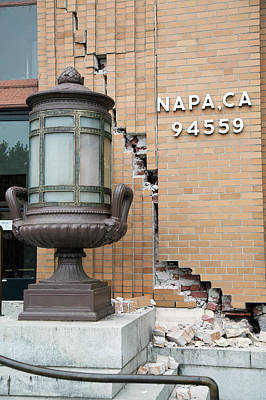 Napa Valley Photograph - Earthquake Damage by Peter Menzel
