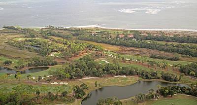 East Coast Aerial Near Jekyll Island Art Print by Betsy Knapp