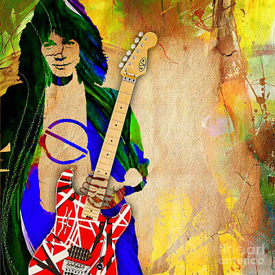 Van Halen Mixed Media - Eddie Van Halen Special Edition by Marvin Blaine