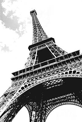 Abstract Expressionism - Eiffel tower by Elena Elisseeva