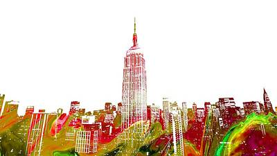 Painting - Empire State Building by Doc Braham