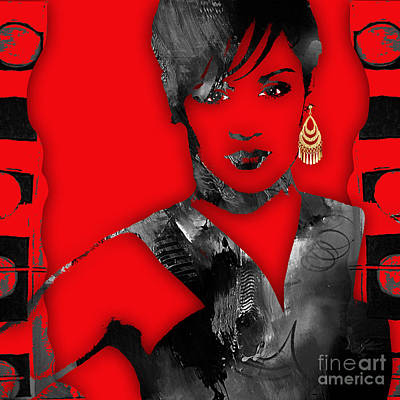 Mixed Media - Empire's Grace Gealey Anika Gibbons by Marvin Blaine