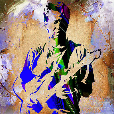 Rock Mixed Media - Eric Clapton Collection by Marvin Blaine