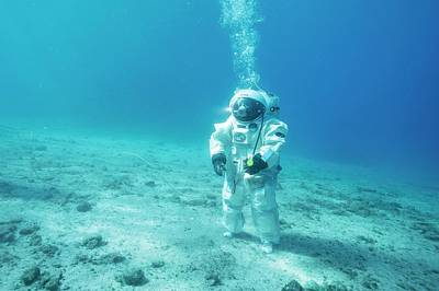 Training Exercise Photograph - Esa Underwater Astronaut Training by Alexis Rosenfeld