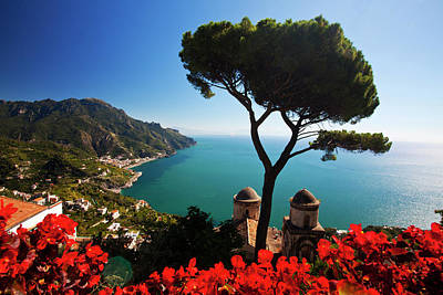 Ravello Photograph - Europe, Italy, Amalfi Coastline by Terry Eggers