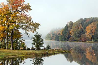 Photograph - Foggy Fall Morning by Frank Morales Jr