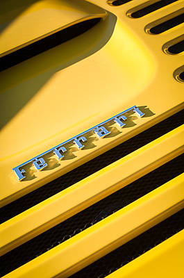 Photograph - Ferrari F355 Emblem by Jill Reger