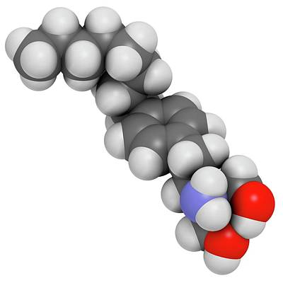 Fingolimod Multiple Sclerosis Drug Art Print by Molekuul