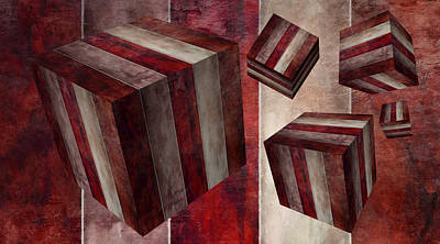 Digital Art - 5 Fire Cubed by Angelina Vick