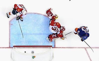 Scoring Photograph - Florida Panthers V New York Islanders by Bruce Bennett