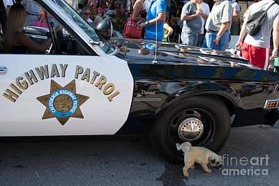 Police Car Digital Art - Ford Diplomat Police Car by Carol Ailles