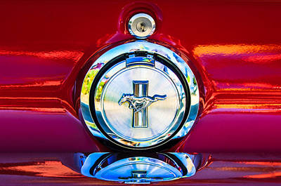 Photograph - Ford Mustang Emblem by Jill Reger