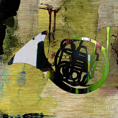 Music Room Mixed Media - French Horn by Marvin Blaine