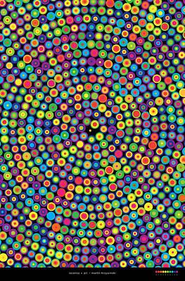 Digital Art - Frequency Distribution Of Digits In Pi by Martin Krzywinski