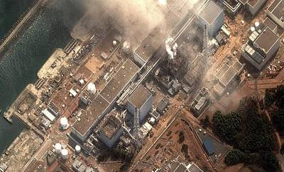Flooding Photograph - Fukushima Nuclear Power Plant by Digital Globe
