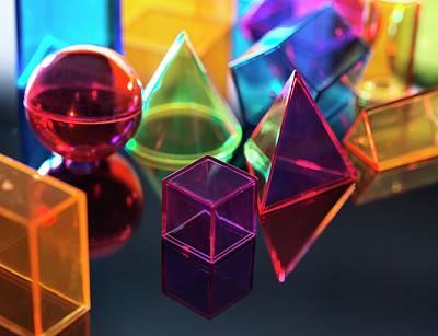 Geometric Shapes Art Print by Tek Image