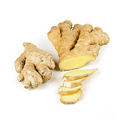 Chopped Photograph - Ginger Root by Elena Elisseeva