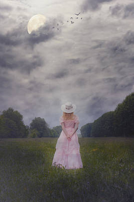 Girl On Meadow Art Print